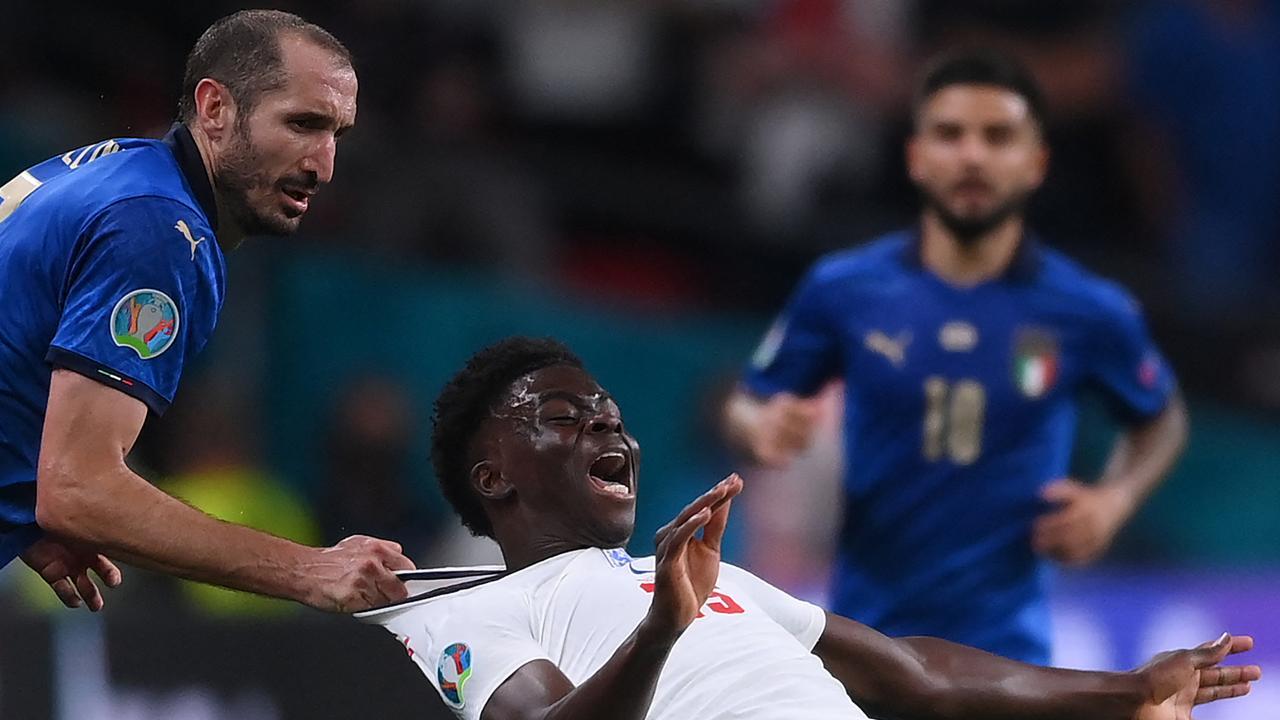Italy V England euro final chiellini saka